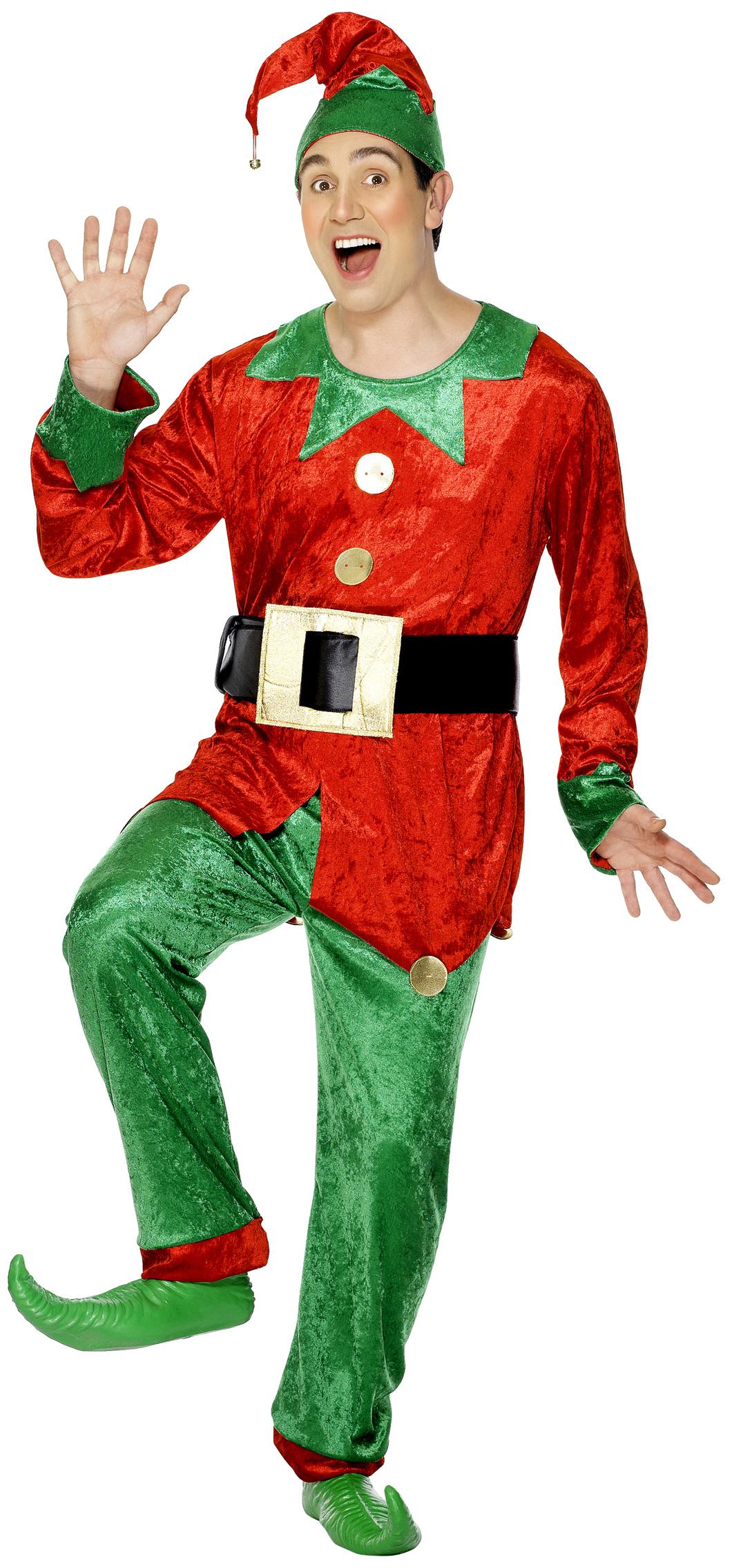Kostume nisse til mænd jul, køb Kostumer til voksne på