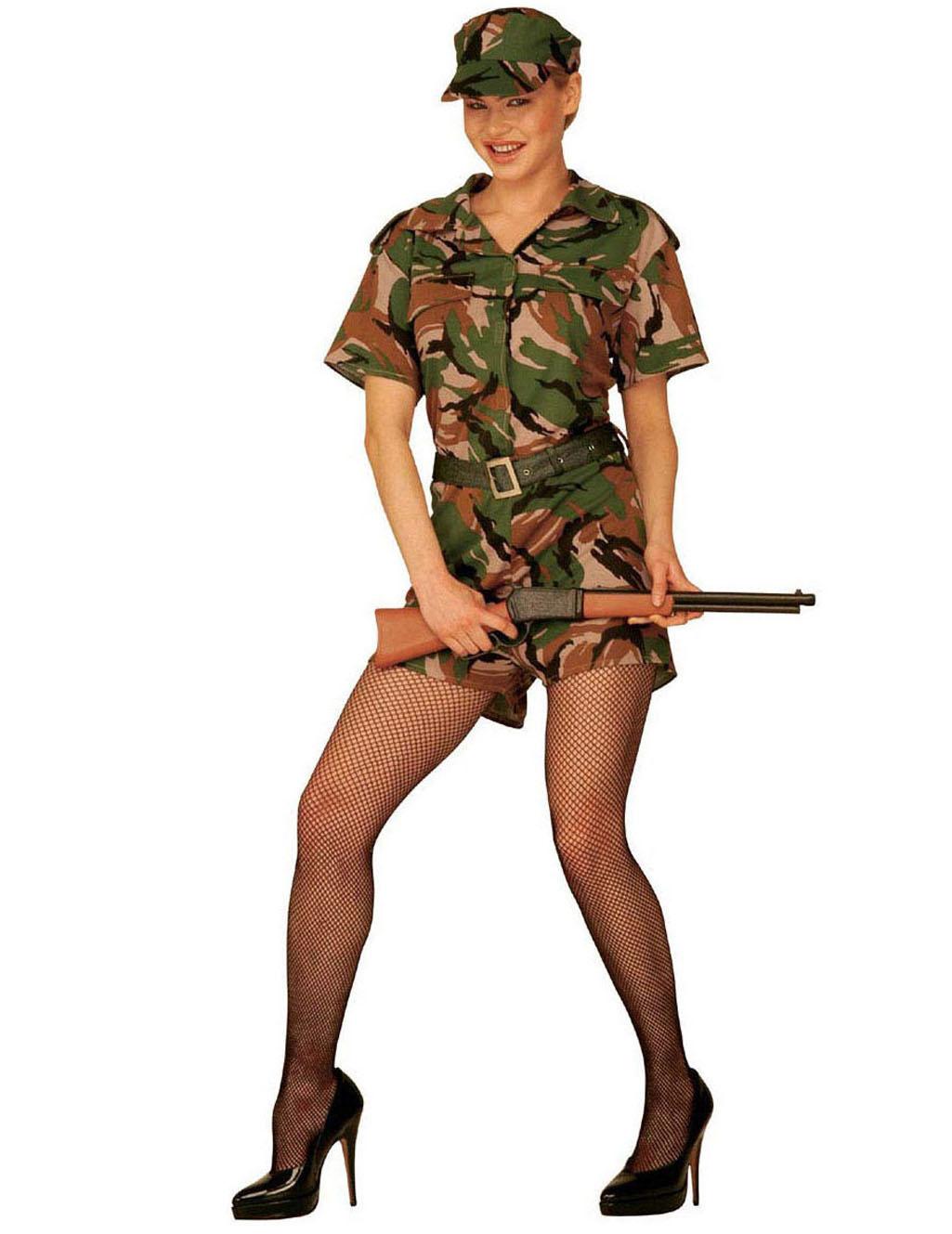 6437e555016 Militær dragt til kvinder, køb Kostumer til voksne på Vegaoo.dk