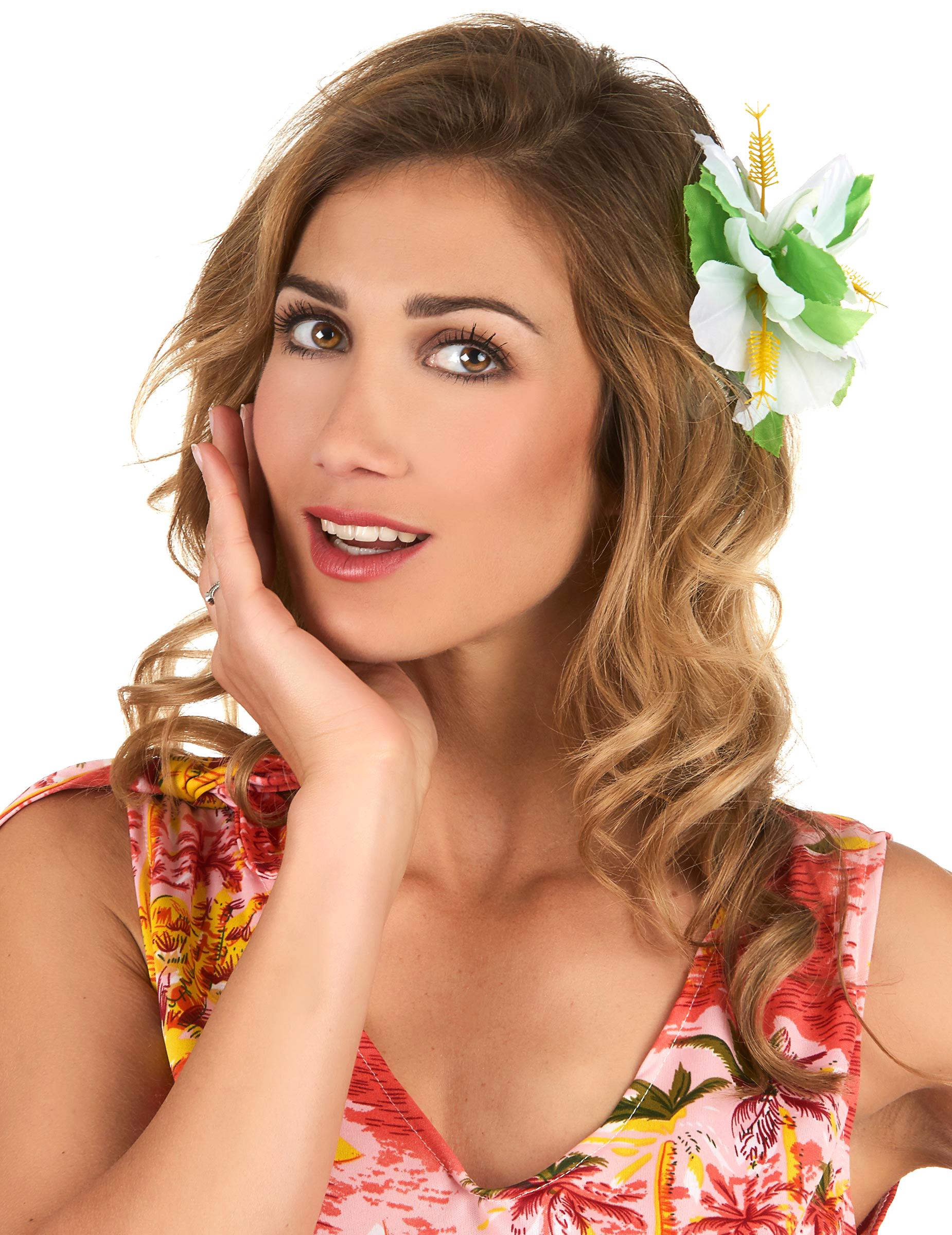 dk Hawaii Vegaoo Køb Blomst Tilbehør På Hårclips T1wYqdY