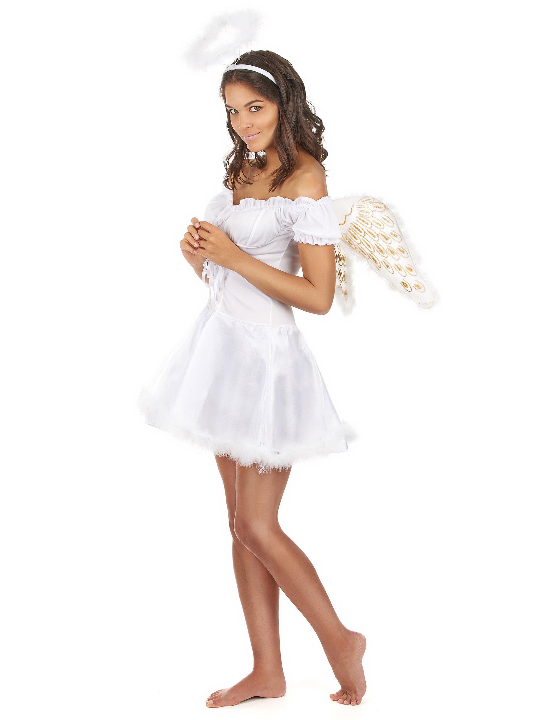 777a8c00b1b2 Drømmeengel - Englekostume med vinger til kvinder-1