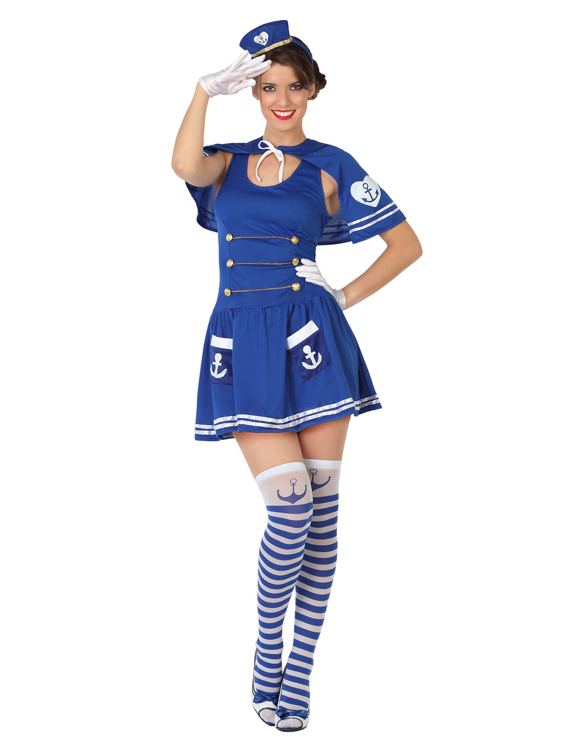 sømands kostume dame