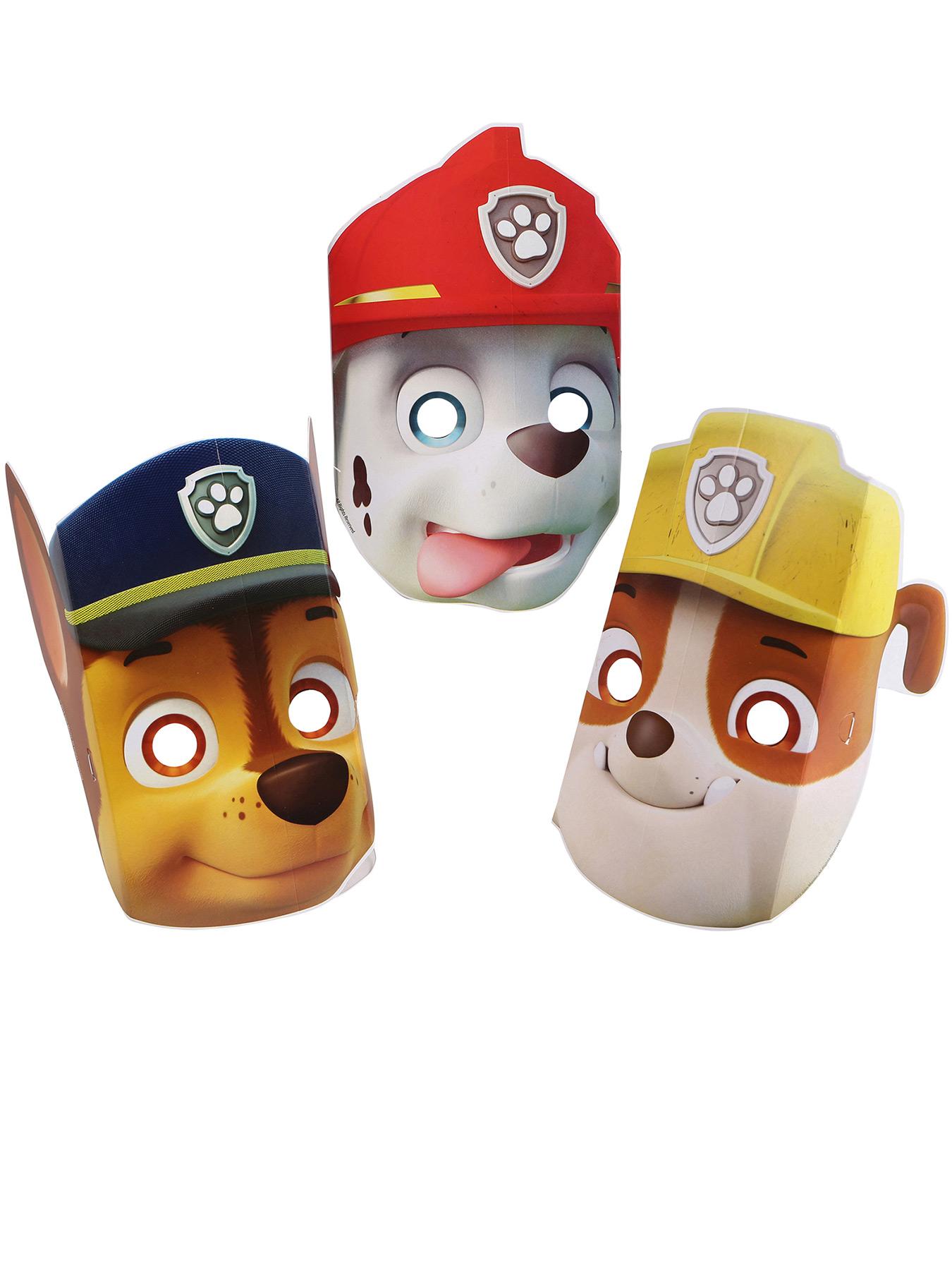 8 paw patrol™masker i pap køb masker på vegaoodk