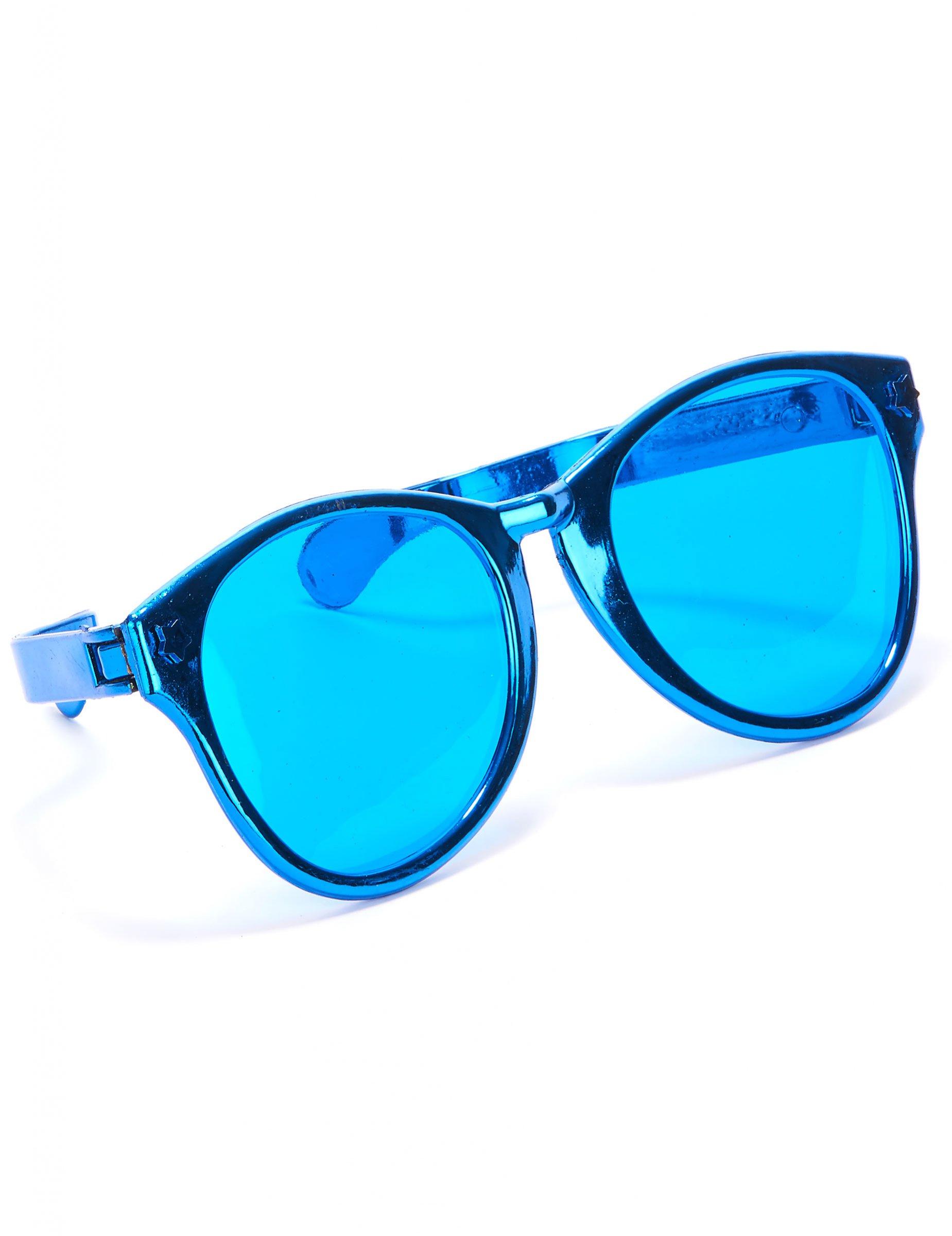 Tidsmæssigt Gigantiske blå briller til voksne, køb Tilbehør på Vegaoo.dk PH-07