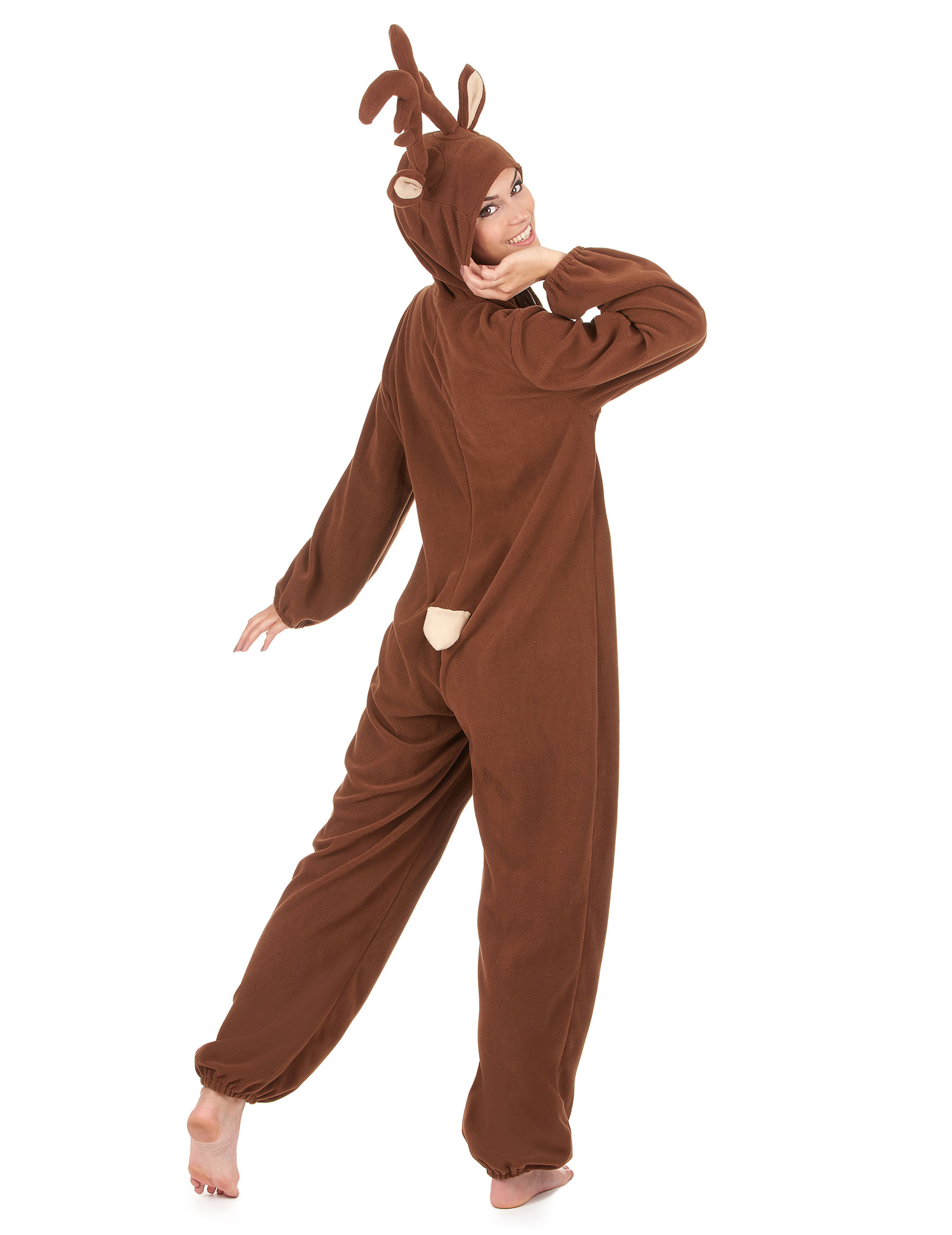 Kostume heldragt rensdyr dame, køb Kostumer til voksne på
