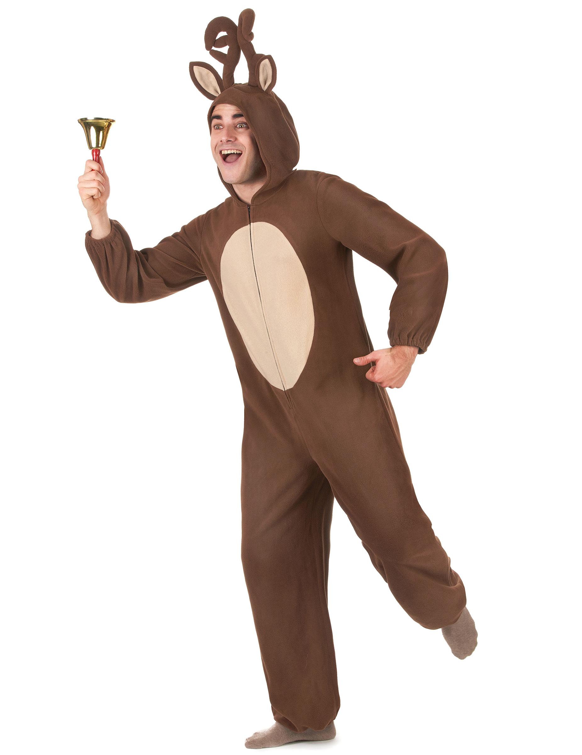 Kostume heldragt rensdyr herre, køb Kostumer til voksne på