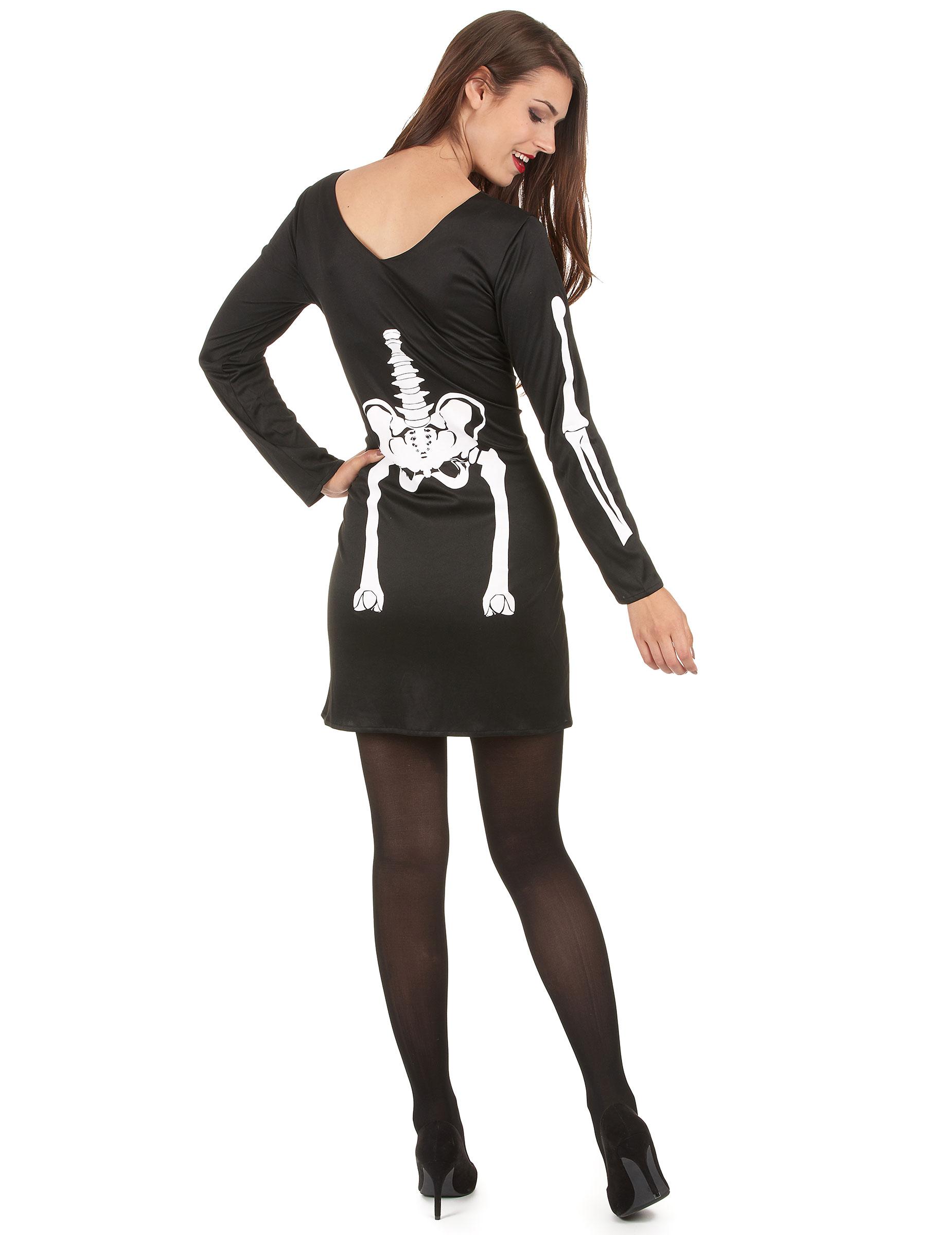 Kostume skelet til kvinde Halloween, køb Kostumer til