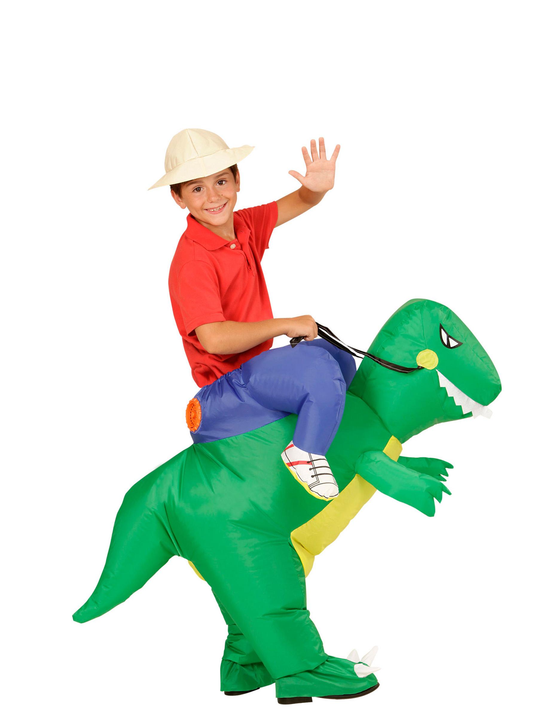 Kostume Udforsker På Ryggen Af Dinosaur Til Børn Køb Kostumer Til