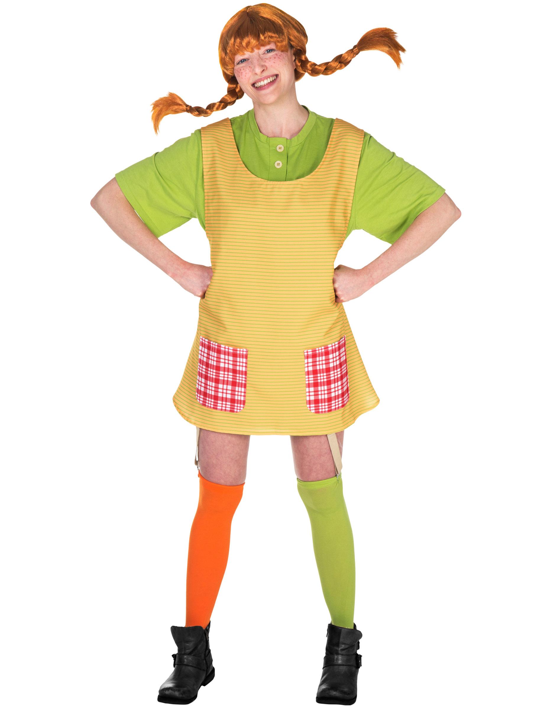 pippi langstrømpe kjole