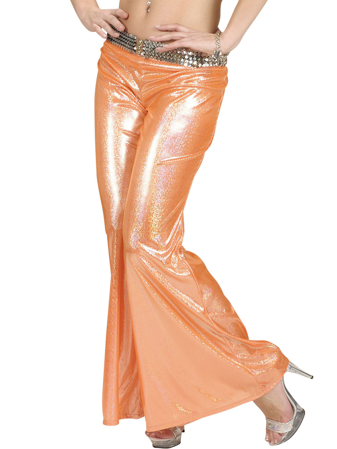 7fc6239e Holografiske disko-bukser orange dame, køb Kostumer til voksne på Vegaoo.dk