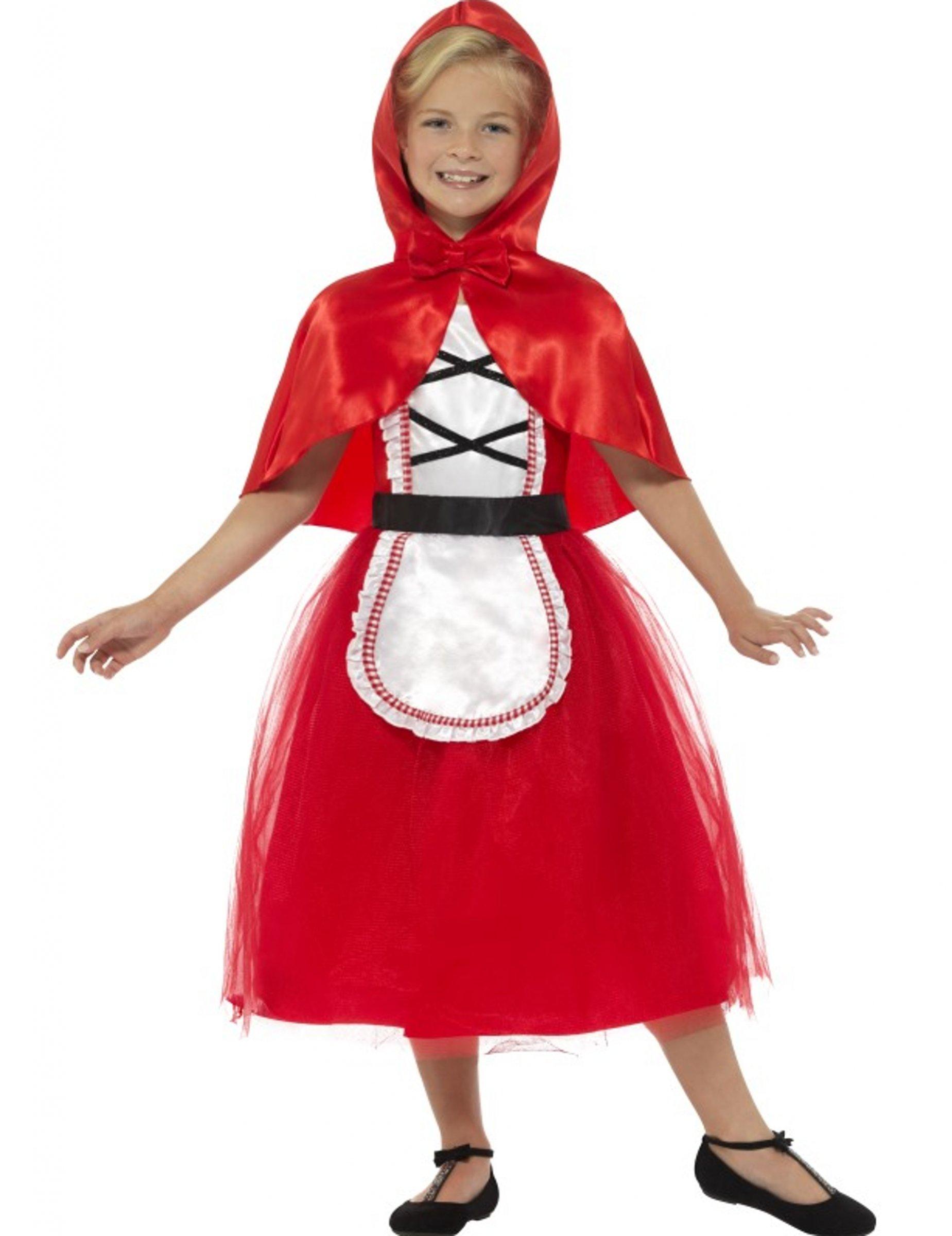 På Til dk Børn Vegaoo Pige Rød Kostumer Kostume Og Kappe I Kjole Køb U6T8Tvaqw