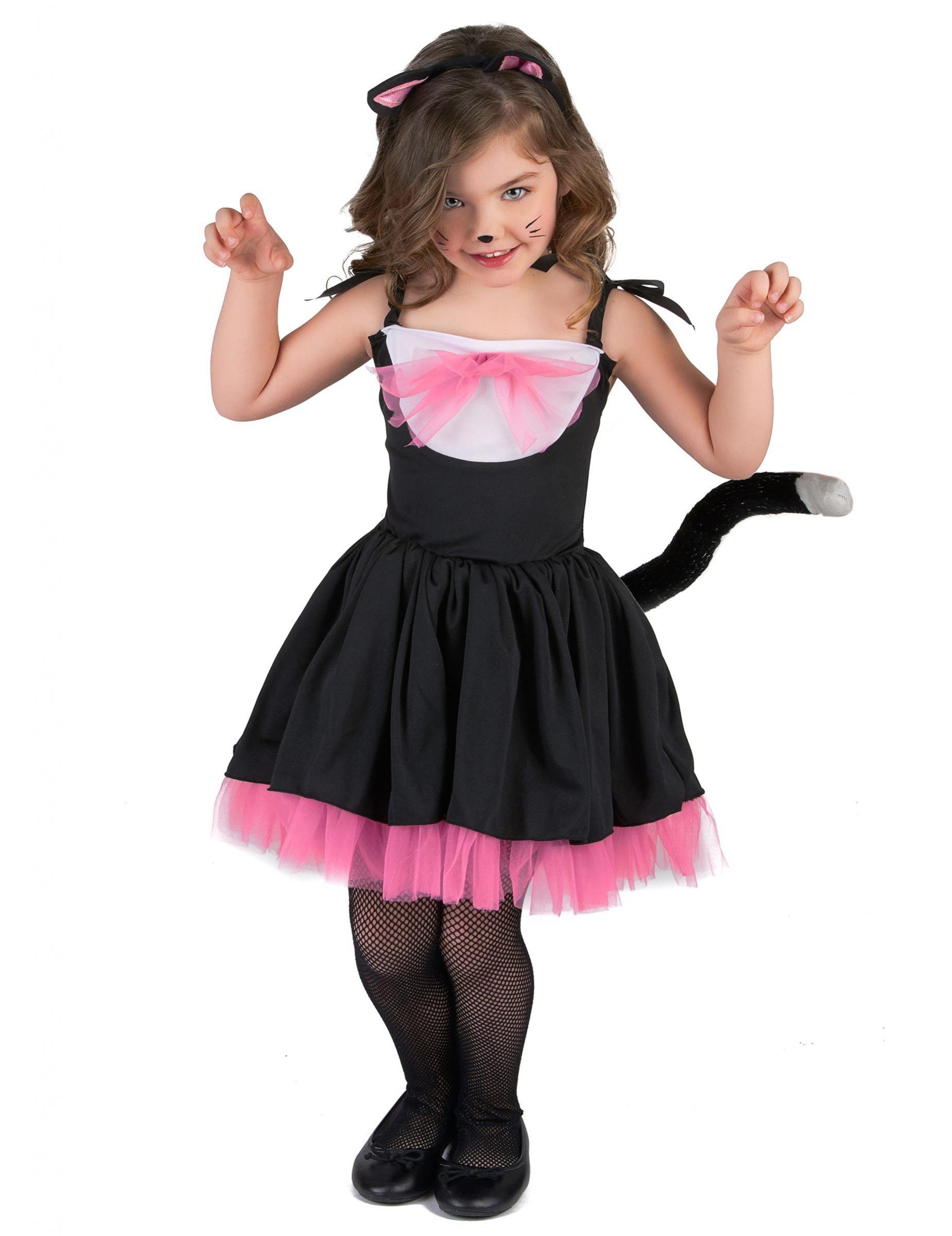 c5204934790 Kostume Kat Tutu Sort Lyserødt til piger, køb Kostumer til børn på ...