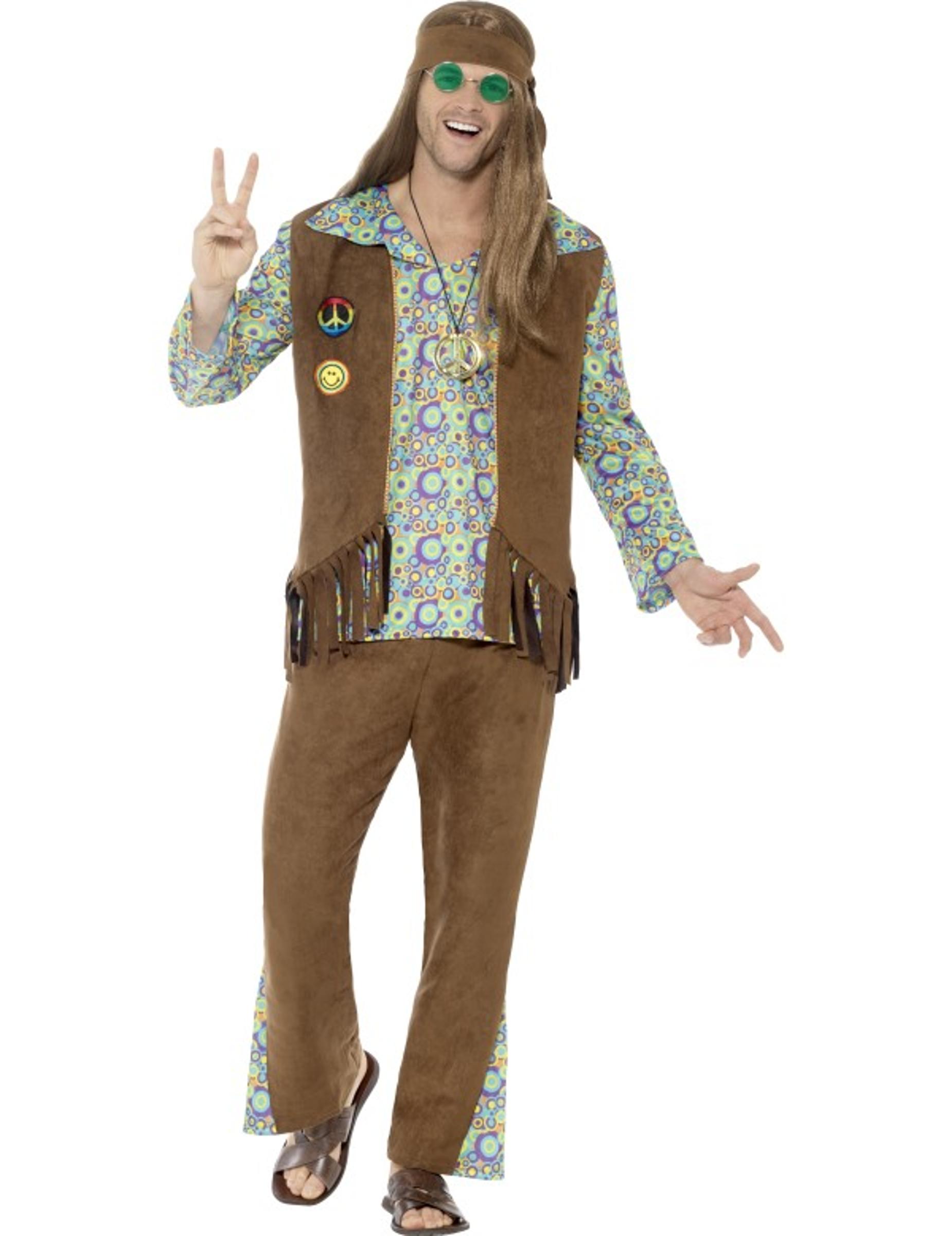 Kostume hippie 60´er style, køb Kostumer til voksne på