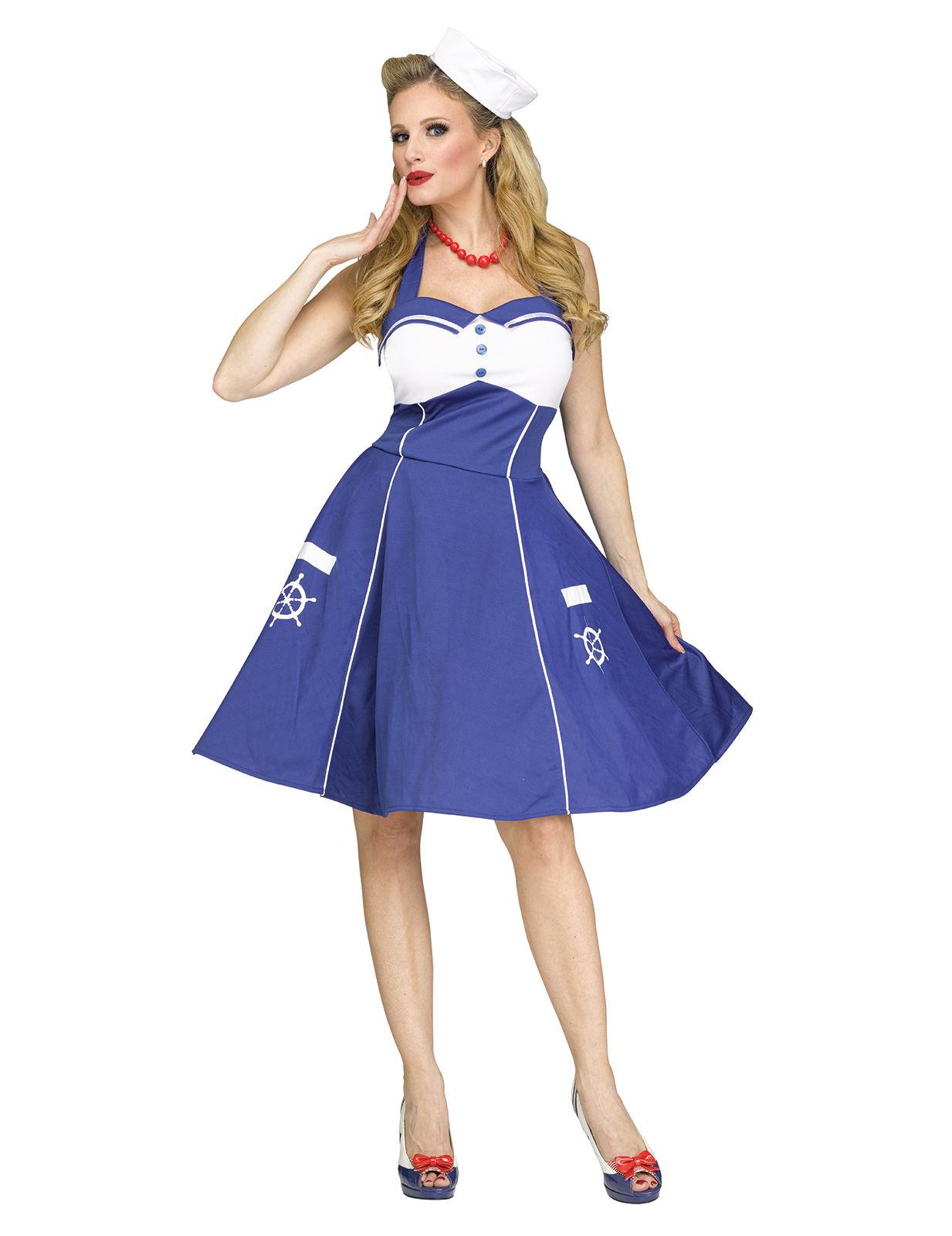Kostume matros 50er til kvinder, køb Kostumer til voksne