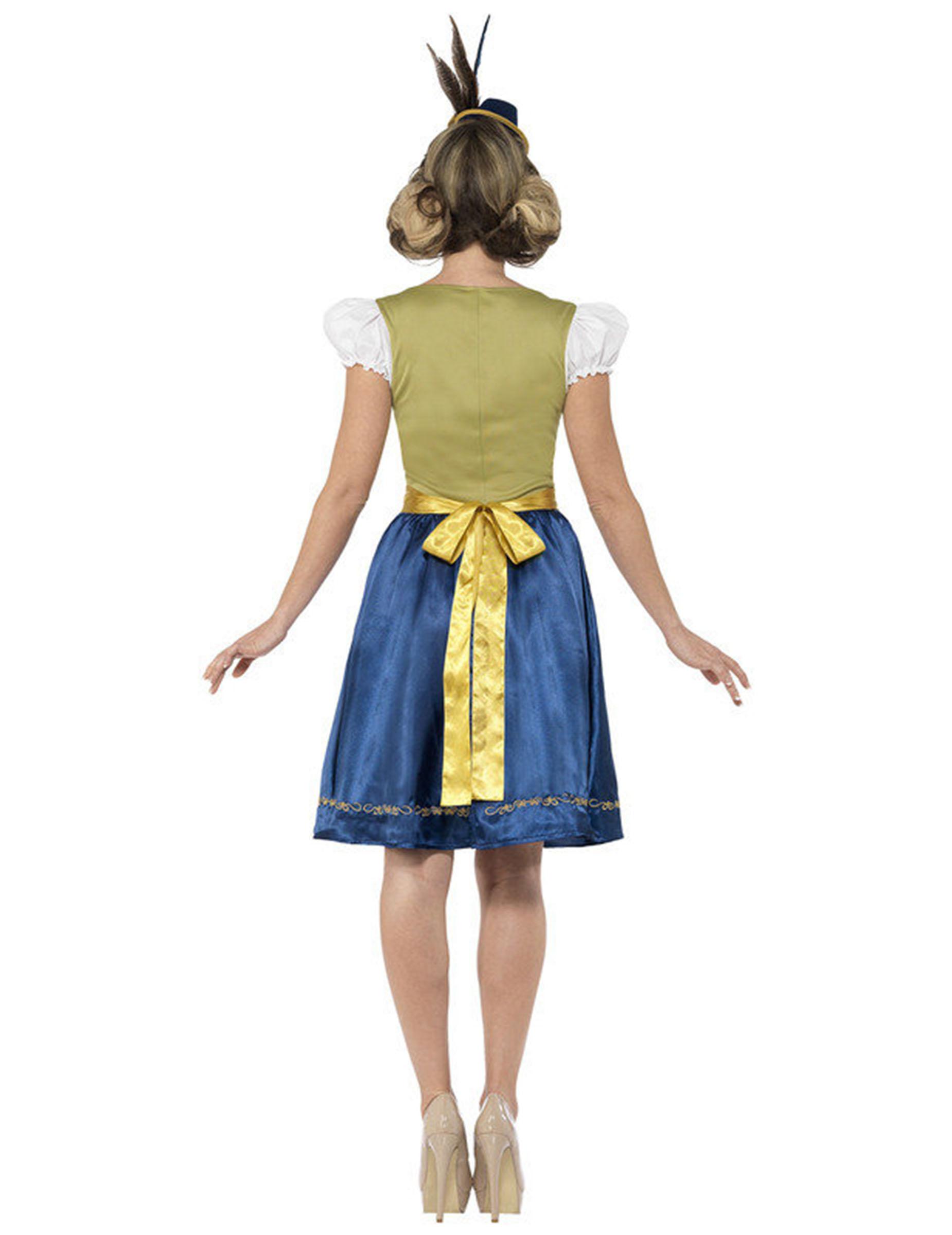 59c44ead5f73 Kostume dirndl kjole grøn-brun-blå-2
