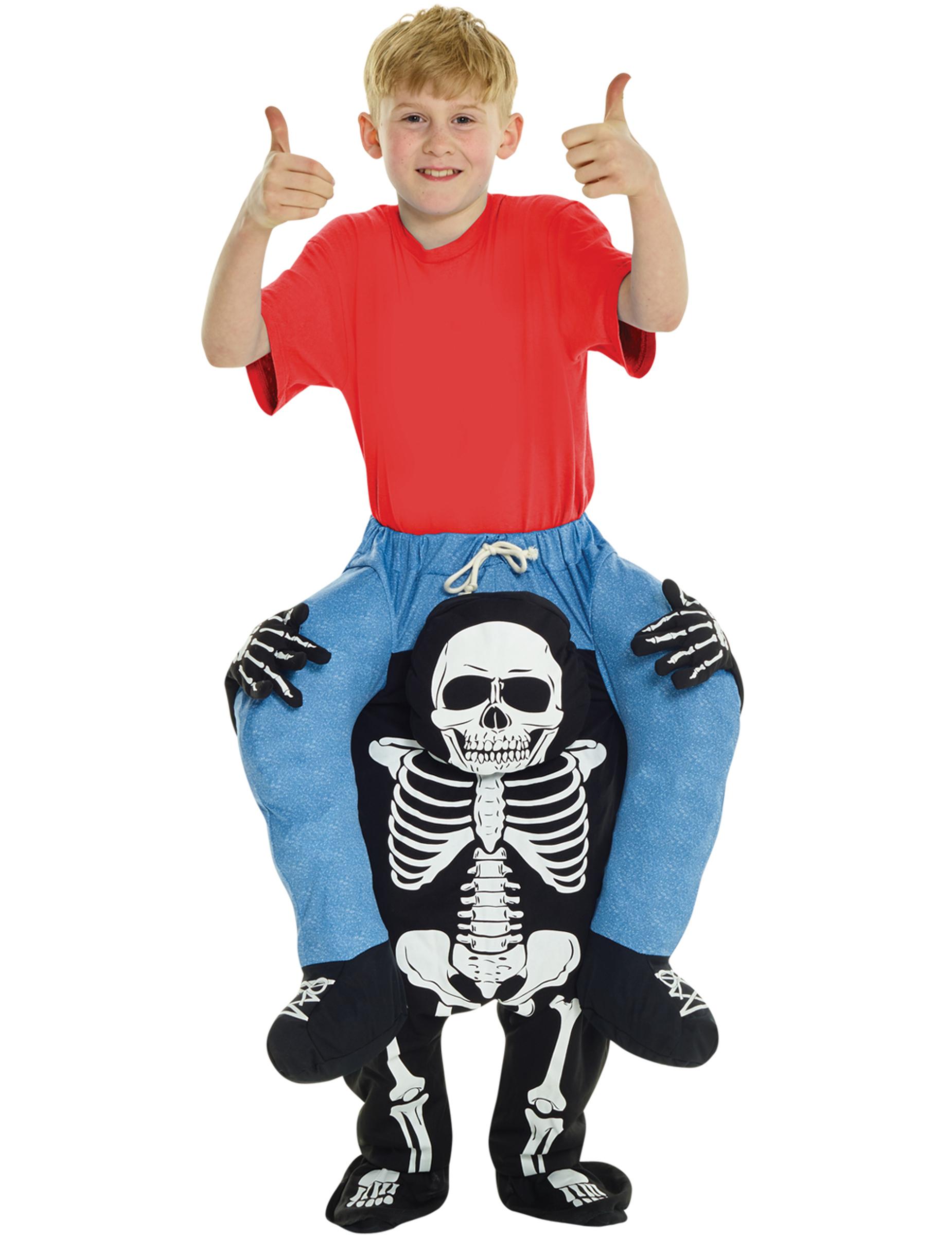Kostume barn på ryggen af et skelet til børn Halloween, køb
