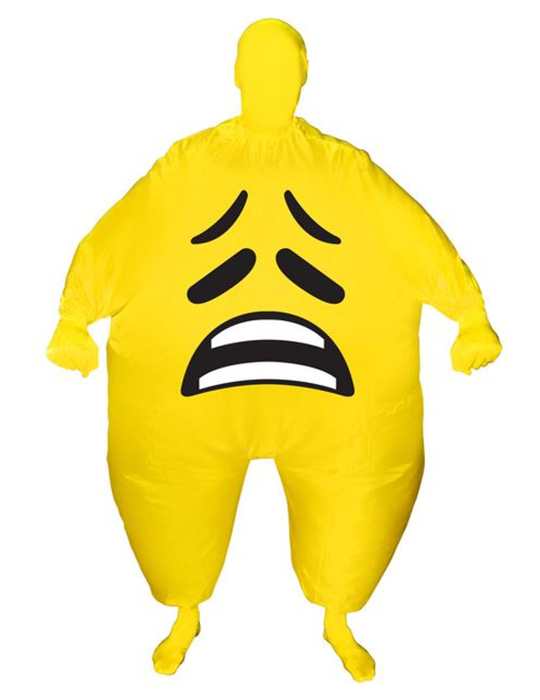 dd2369373d9c Kostume oppusteligt trist ansigt Morphsuits™ til voksne