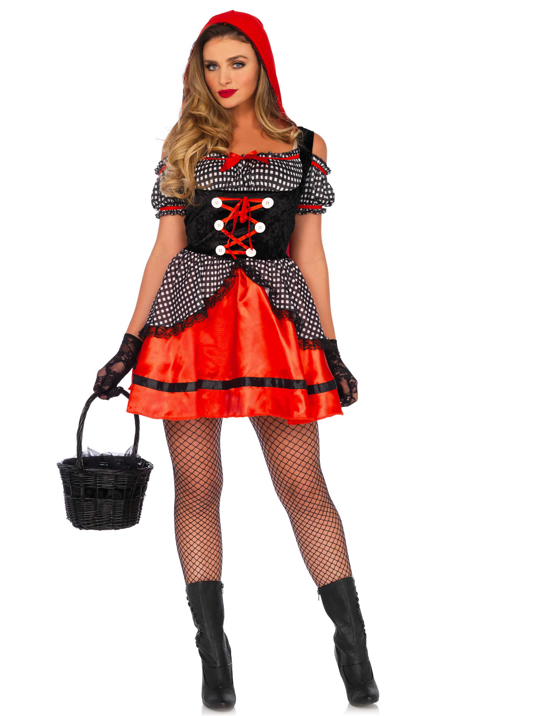 f09b7c40b85d Kostume fræk rødhætte til kvinder