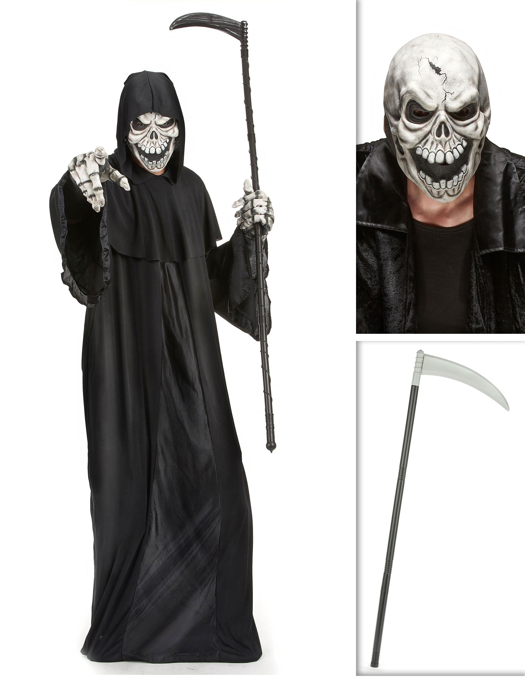 41ee26e3460b Pakke manden med leen med le og maske Halloween