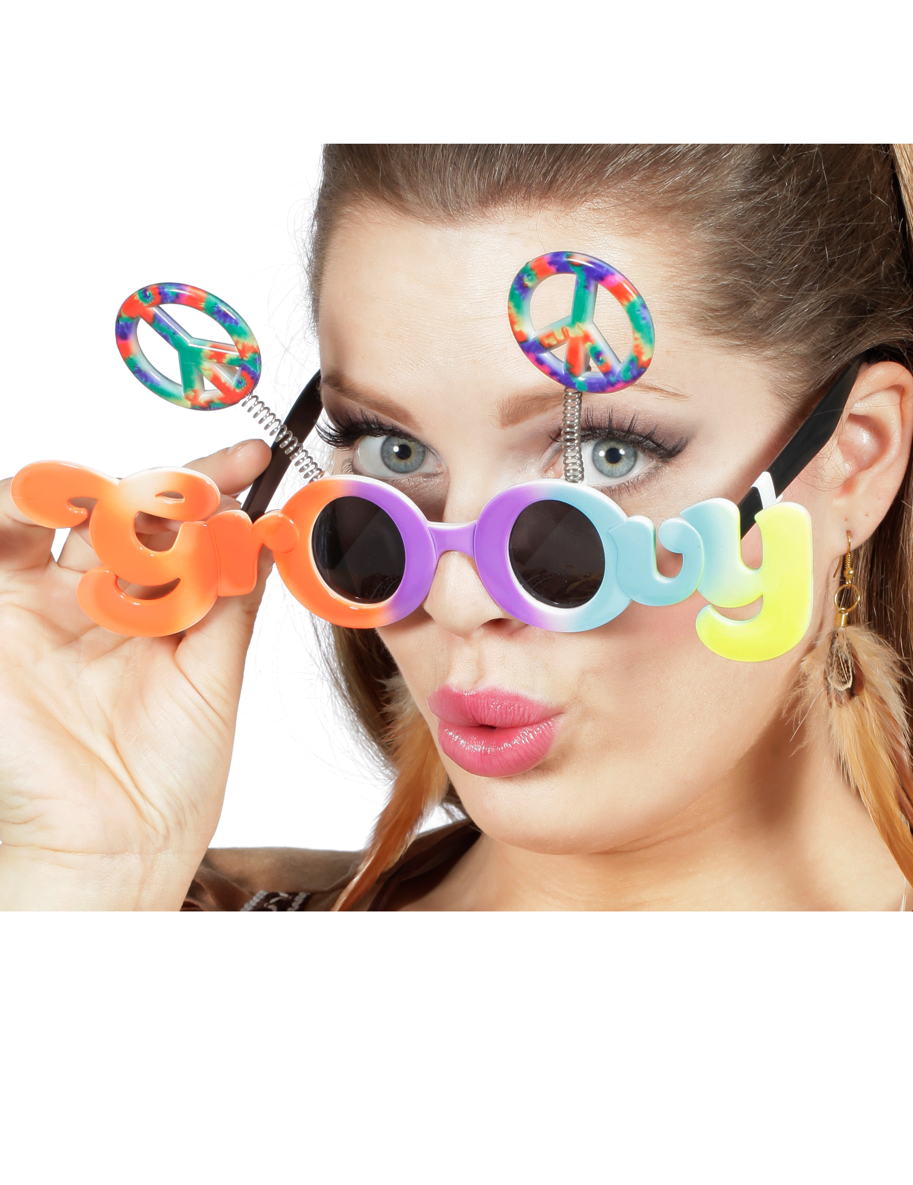 ecfe654b6e0f Briller multifarvet groovy til voksne