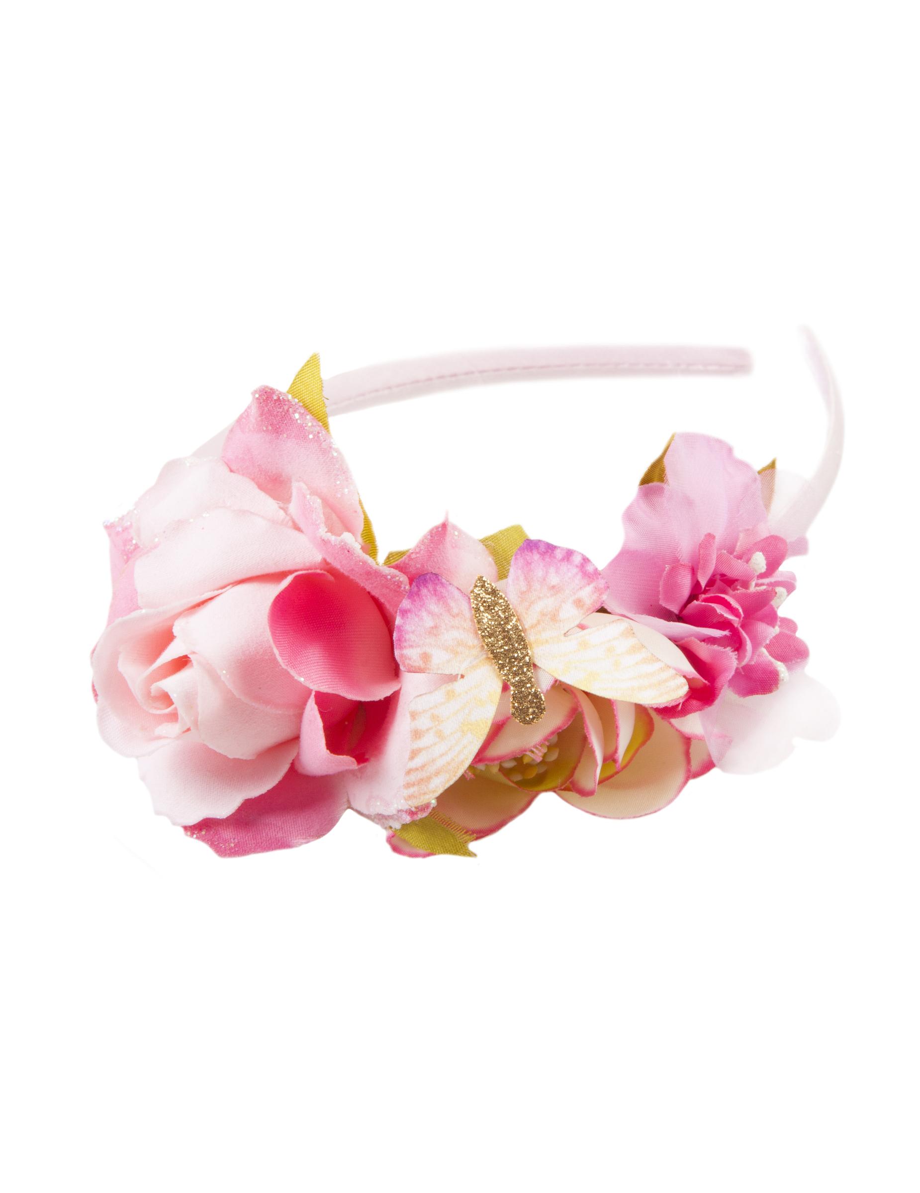 hårbøjle med blomster