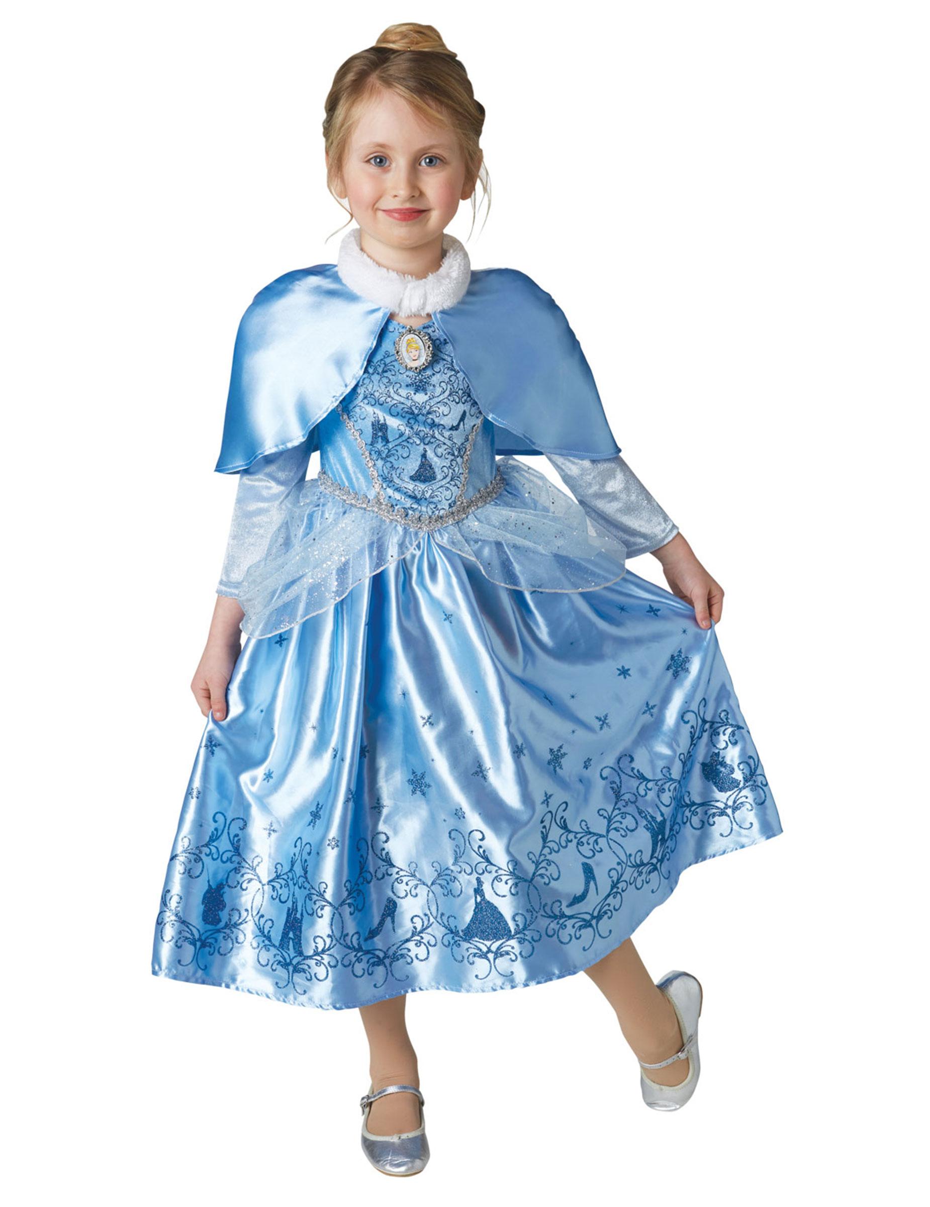 653533fb4de8 Prinsesse askepot vinterkjole med kappe til piger - Aksepot™