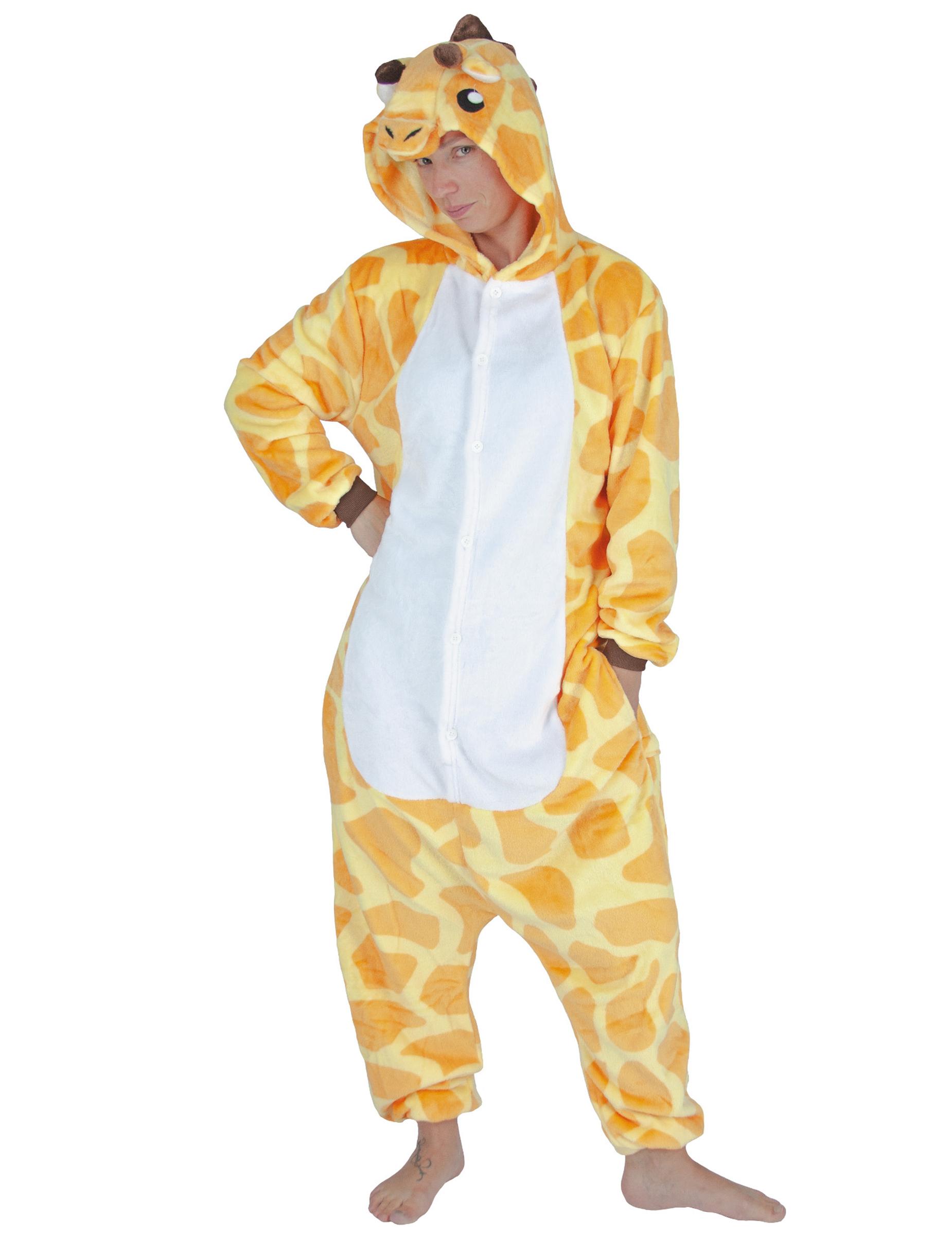 Kostume heldragt giraf plys voksen, køb Kostumer til