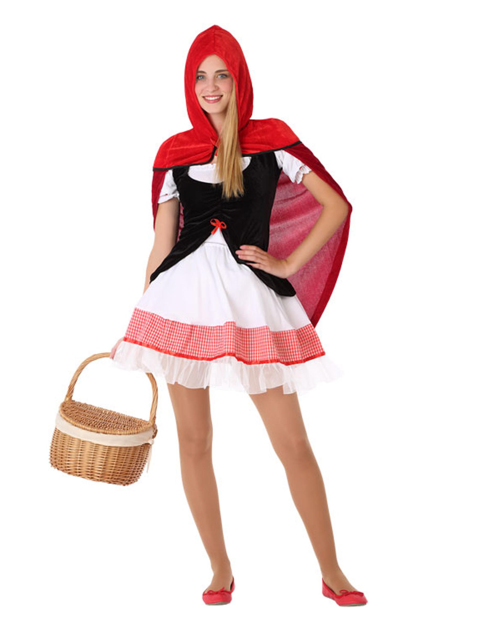Rødhætte kostume - teenager, køb Kostumer til voksne på