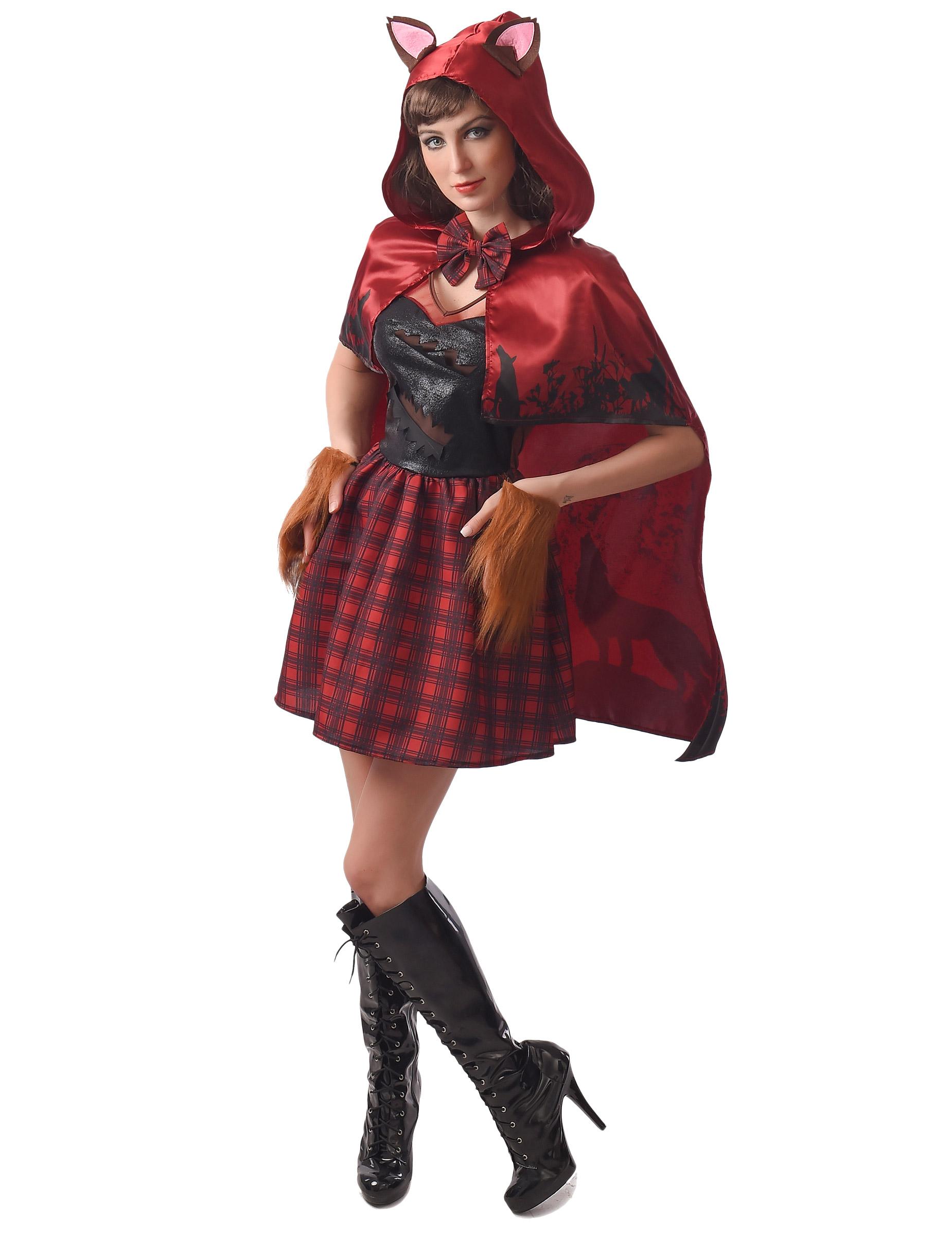 Rødhætte varulv kostume - kvinde, køb Kostumer til voksne