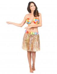 Skørt hawaii flerfarvet til voksen
