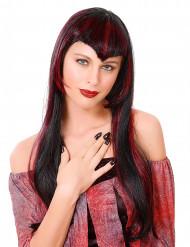 Rød vampyrparyk dame