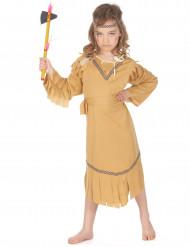 Den lyse - Beige indianerkostume til piger