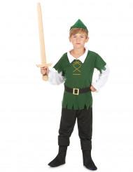Grønt skovdrengekostume til drenge