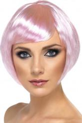 Kort lyserød paryk til voksne