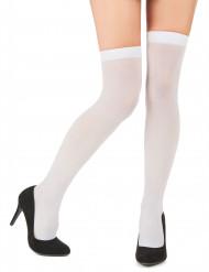 Hvide dækkende strømper dame