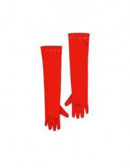 Røde lange børnehandsker