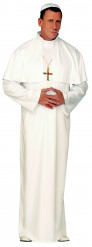Deluxe hvidt pavekostume til mænd