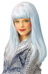 Lang Blå Paryk Pige