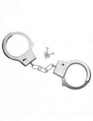 Håndjern i metal med nøgle