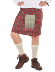 Skotsk kilt med skind til voksne