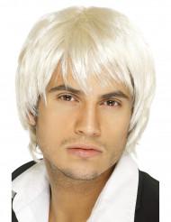 Boyband Blond Paryk Mand
