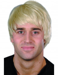 Moderne Kort Blond Paryk Mand