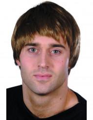 Moderne kort brun paryk til mænd
