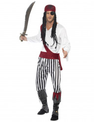 Stribet piratkostume til voksne