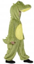 Grønt plys krokodillekostume til børn