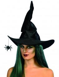 Sort Heksehat med Edderkop Halloween Kvinde