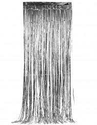 Sølvskinnende dørgardin