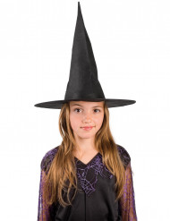 Sort heksehat til børn Halloween