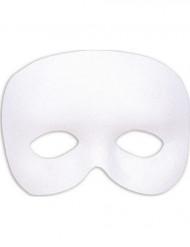 Halvdækkende maske hvid Voksne
