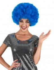 Paryk afro disco blå komfort voksen