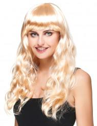 Paryk blond lang dame
